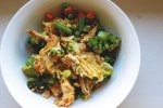 turkey and veggie egg scramble