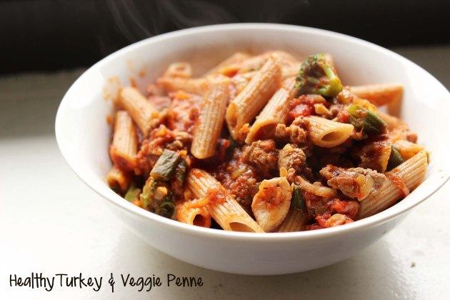 healthy turkey pasta